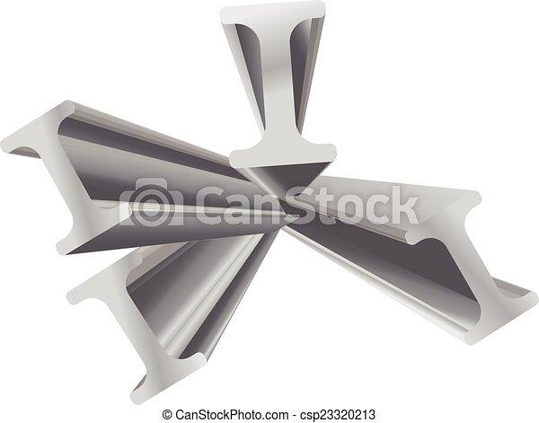construction beam vector 3d object  - csp23320213