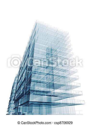 construction bleu, bureau - csp8706929