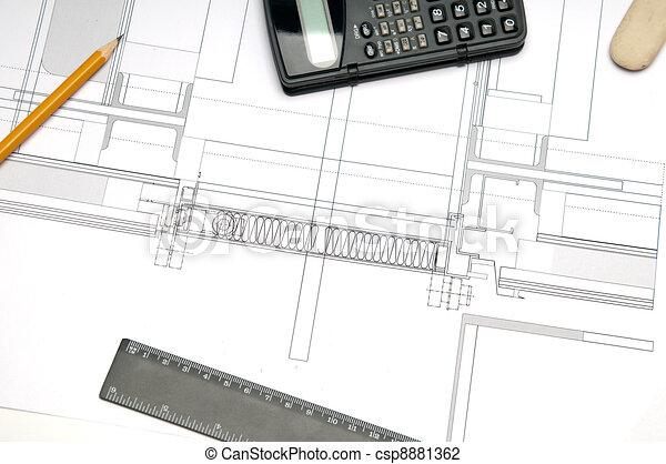 Construction blueprint architecture blueprint tools clip art construction blueprint csp8881362 malvernweather Choice Image