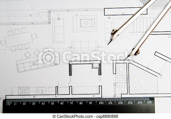 Construction blueprint architecture blueprint tools stock construction blueprint csp8880888 malvernweather Choice Image