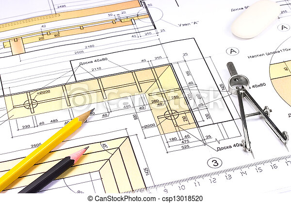 Construction blueprint drawing tools on construction plan construction blueprint csp13018520 malvernweather Image collections