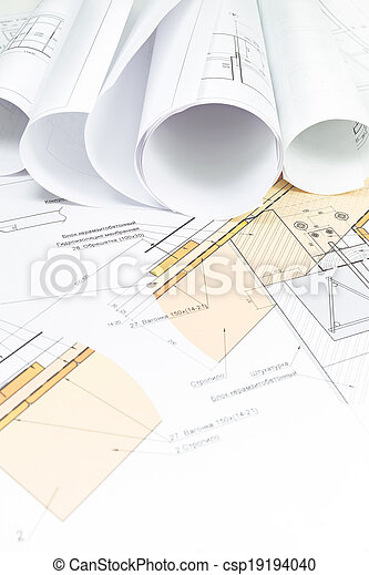 Construction blueprint industrial drawing detail and rolls stock construction blueprint csp19194040 malvernweather Images