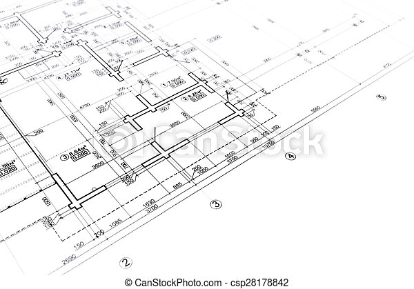 Construction blueprint house plan blueprint architectural drawing construction blueprint csp28178842 malvernweather Image collections