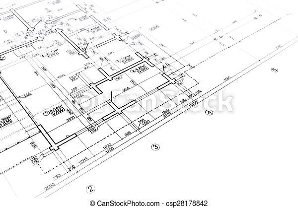 Construction blueprint house plan blueprint architectural stock construction blueprint csp28178842 malvernweather Gallery