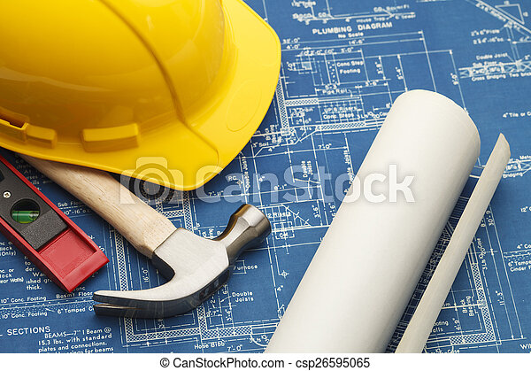 Construction Blueprints - csp26595065