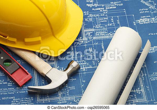 Construction Blueprints - csp26595065