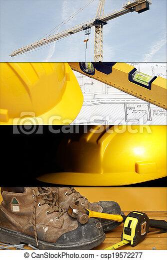 Construction Collage - csp19572277