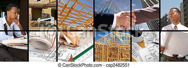 Construction Collage - csp2482551