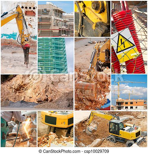 Construction Collage - csp10029709