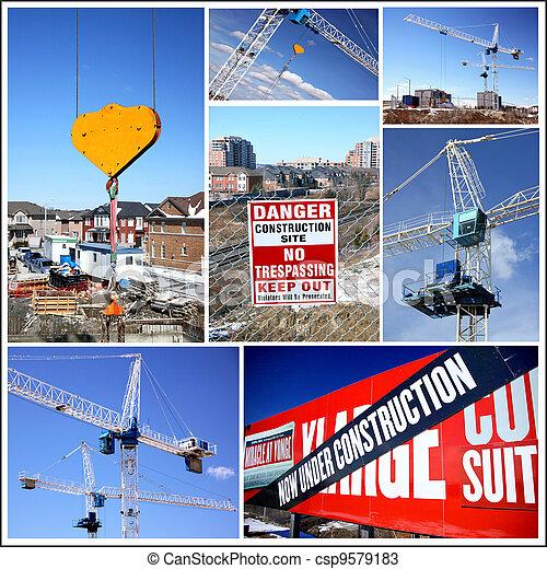 Construction Collage - csp9579183