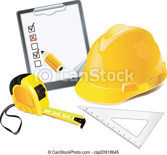 Construction Concept Helmet, penci - csp20918645