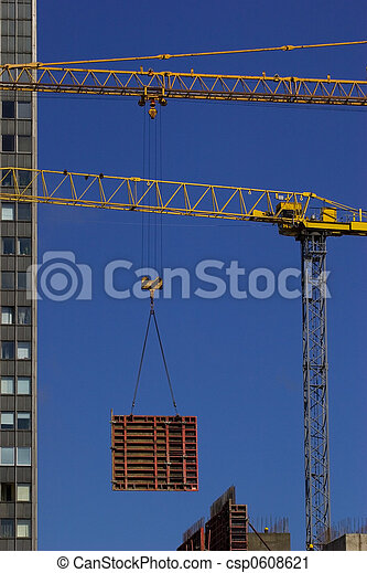 Construction crane lifting - csp0608621