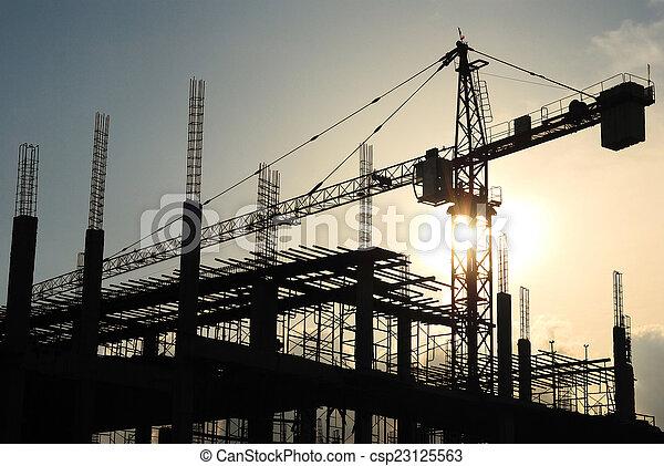 construction crane - csp23125563