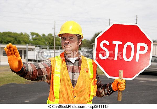 Construction Crew Stop Sign - csp0541112