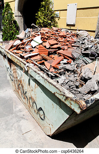 Construction debris at a construction site - csp6436264