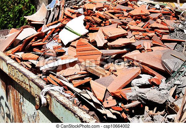 construction debris at a construction site - csp10664002