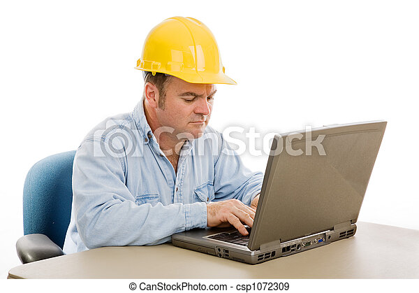 Construction Engineer on Computer - csp1072309