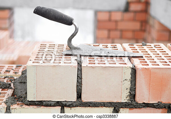 construction equipment for bricklayer - csp3338887