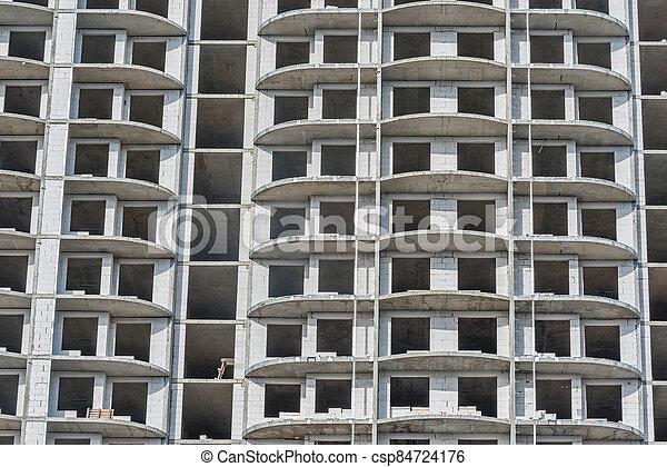 construction, extérieur, logement, time., vue, bâtiment - csp84724176