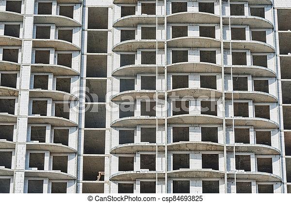 construction, extérieur, logement, time., vue, bâtiment - csp84693825