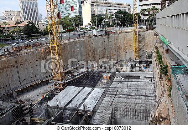 construction, gratte-ciel - csp10073012