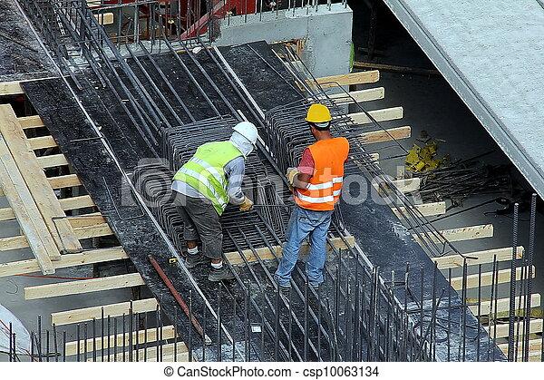 construction, gratte-ciel, site - csp10063134