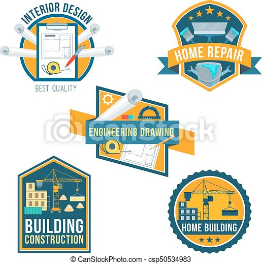 Construction Home Repair And Interior Icons