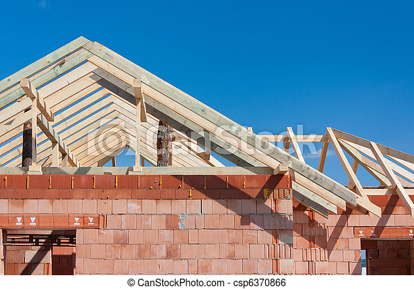 Construction house - roof - csp6370866