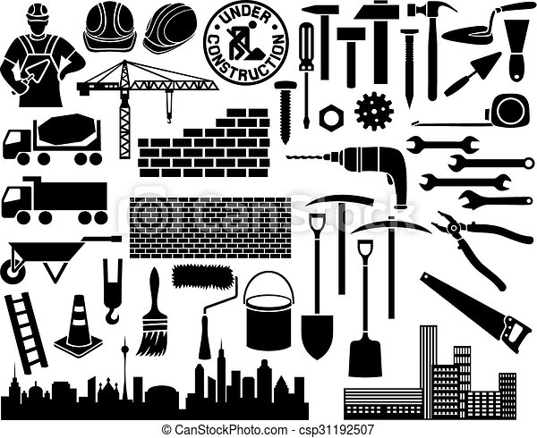 construction icon set - csp31192507