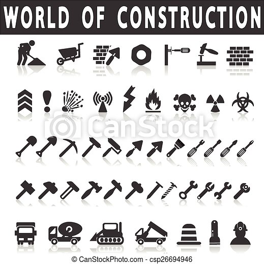 construction icons - csp26694946
