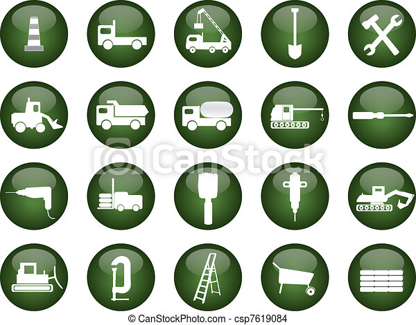 construction icons - csp7619084