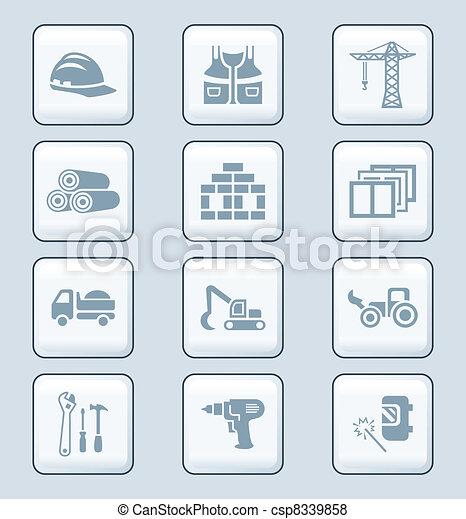 Construction icons | TECH series - csp8339858