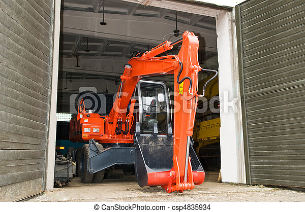 Construction machinery repair service works - csp4835934