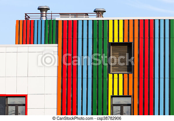 construction made of metal all colors the rainbow construction made