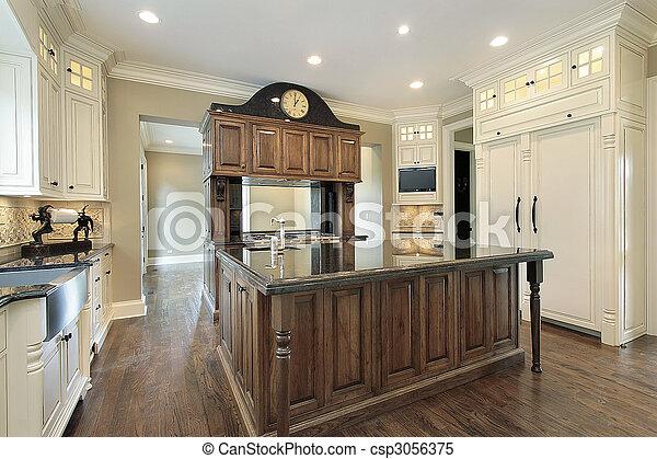 construction maison, cuisine, nouveau - csp3056375