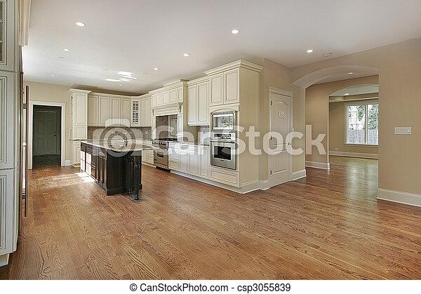 construction maison, cuisine, nouveau - csp3055839