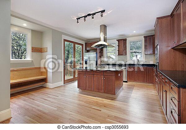 construction maison, cuisine, nouveau - csp3055693