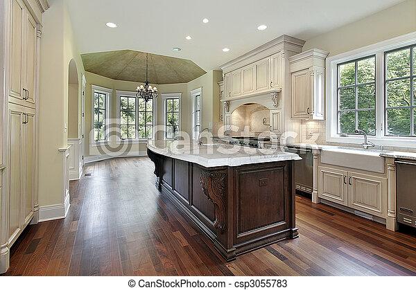 construction maison, cuisine, nouveau - csp3055783