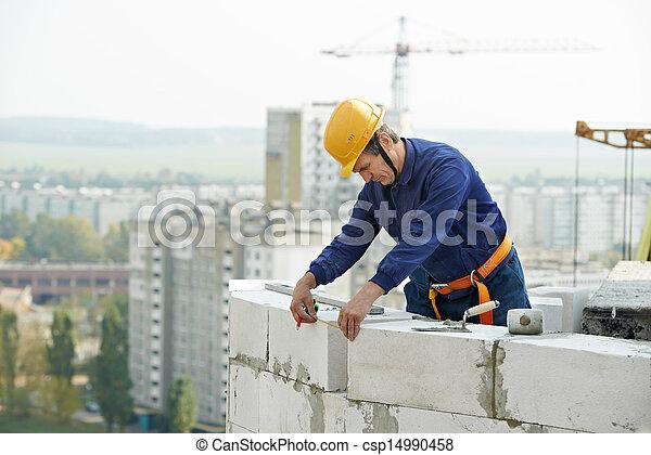 construction mason worker bricklayer - csp14990458