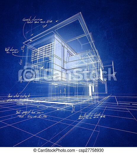 construction, moderne, wireframe - csp27758930