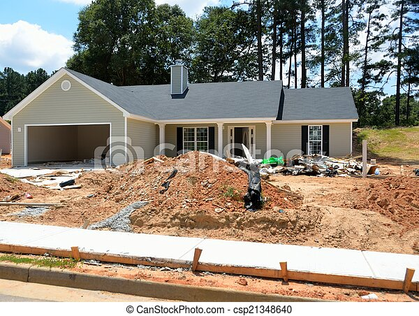 construction, nouvelle maison - csp21348640