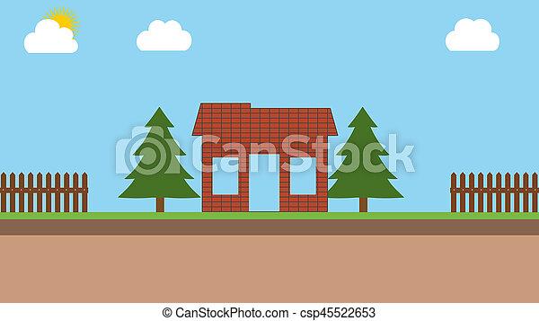 construction of a brick house - csp45522653