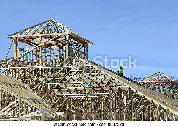 construction of a building - csp18837528