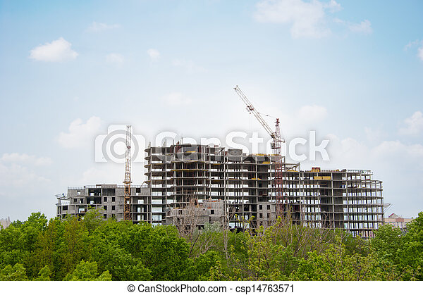 Construction of a house - csp14763571