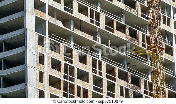 Construction of a modern building - csp57510879