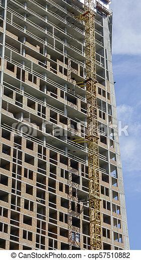 Construction of a modern building - csp57510882