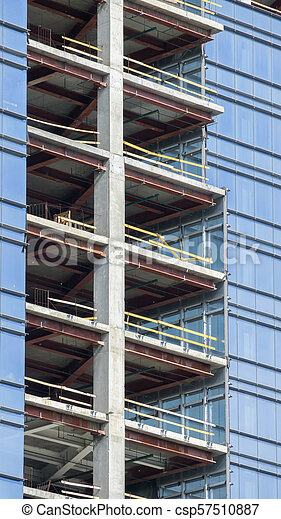 Construction of a modern building - csp57510887