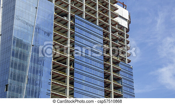 Construction of a modern building - csp57510868