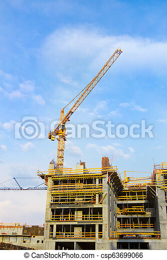 construction of a modern high-rise buildings - csp63699066