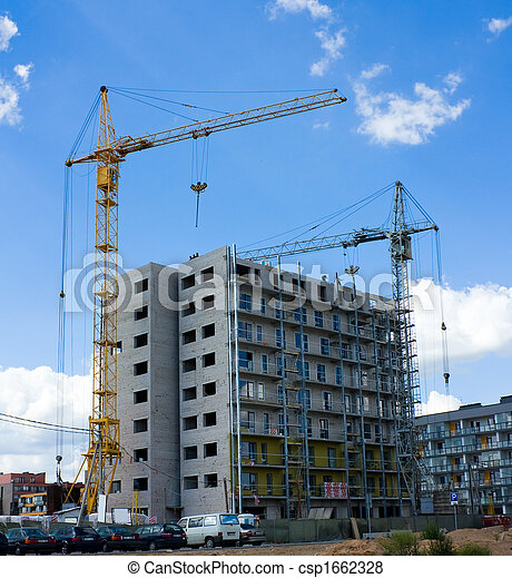 construction of a modern residential building - csp1662328